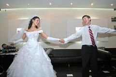dansbröllop Arkivfoton