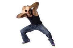 Danschoreograaf Composing met Handkader stock foto
