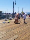 Dansdino Santa Monica pir arkivfoton