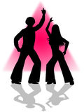 dansdisko Arkivbild