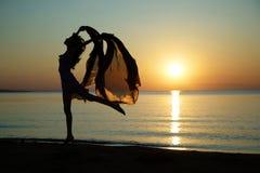 Danse à la mer images stock