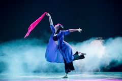 Danse écharpe-moderne signal-rouge de vague Photos stock