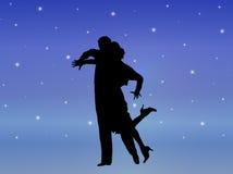 Danse 7 de lumière des étoiles illustration libre de droits