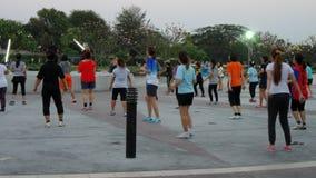 Danse aérobie en parc Images stock
