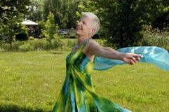 Danse aînée de femme Image libre de droits