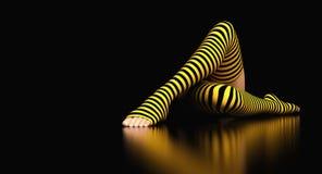 Danse abstraite de jambes de femme illustration stock