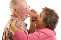 Danse aînée heureuse de couples Photographie stock