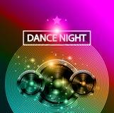 Danse Art Design Poster de disco avec des formes et des baisses abstraites de couleurs derrière Photo stock