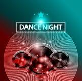Danse Art Design Poster de disco avec des formes et des baisses abstraites de couleurs derrière Photos stock
