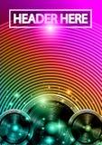 Danse Art Design Poster de disco avec des formes et des baisses abstraites de couleurs derrière Image libre de droits