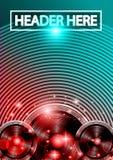 Danse Art Design Poster de disco avec des formes et des baisses abstraites de couleurs derrière Photos libres de droits