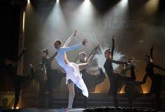 Danse artistique de gymnastes Image libre de droits