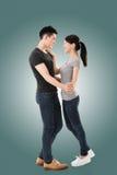 Danse asiatique de couples Photos stock