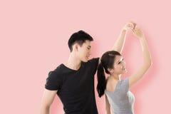 Danse asiatique de couples Photographie stock