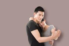 Danse asiatique de couples Photos libres de droits