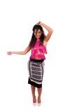 Danse attrayante de jeune femme Image stock