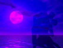 Danse au coucher du soleil illustration stock