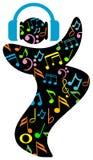 Danse avec la musique Photos libres de droits