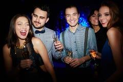 Danse avec le champagne Image stock