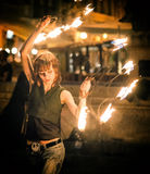 Danse avec un feu Images libres de droits