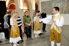 Danse baroque en Pologne Image stock