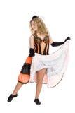 Danse blonde de fille Photographie stock libre de droits