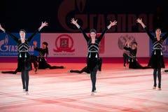 Danse caucasienne de fille Photographie stock