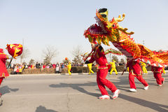 Danse chinoise de dragon Photo libre de droits