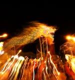 Danse chinoise de dragon Images libres de droits