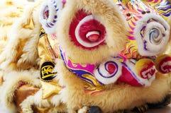 Danse chinoise de lion images libres de droits