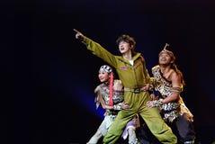 Danse chinoise de trios : Amour de bosse Images stock