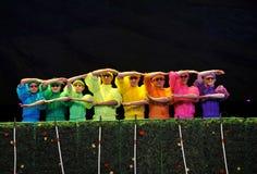 Danse colorée sans visibilité Photos stock