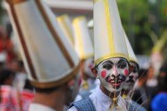 Danse contemporaine pendant l'Art Parade Photo stock