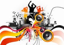 Danse à coulée libre électrique Photos libres de droits