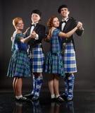 Danse d'écossais Image stock