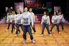 Danse d'équipe de Genève 8-96 Images stock