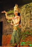 Danse d'apsara de Khmer Photographie stock
