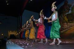 Danse d'apsara de Khmer Photos libres de droits