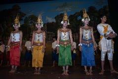 Danse d'apsara de Khmer Photo libre de droits