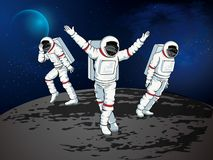 Danse d'astronaute illustration stock