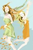 Danse d'automne Image stock