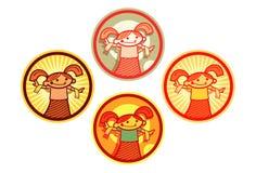 Danse d'ENFANTS Photographie stock libre de droits