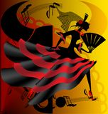 Danse d'Espagnol Photo stock