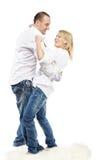 Danse d'homme et de femme sur le tapis Image stock