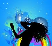 Danse d'houblon de gratte-cul rétro Photo libre de droits