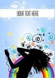 Danse d'houblon de gratte-cul rétro Image stock