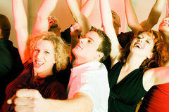 Danse dans la disco Images stock