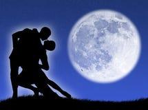 Danse dans la lune illustration de vecteur