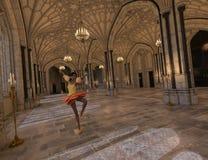 Danse dans la salle de bal Photos libres de droits