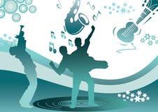 danse dans le bleu Photographie stock